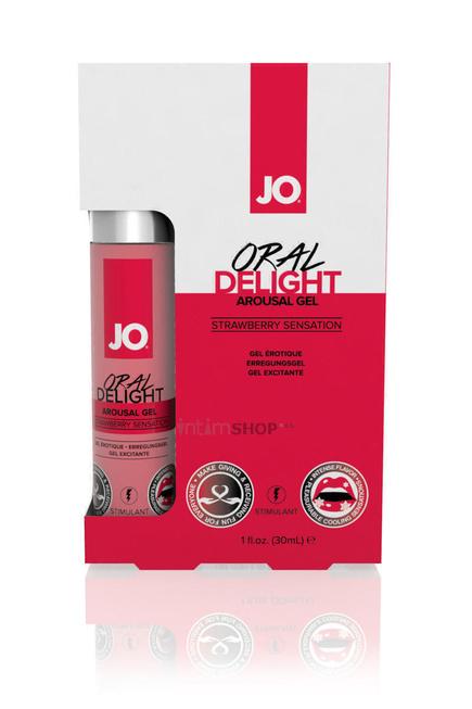 Лубрикант для Оральных Ласк Oral Delight - Strawberry Sensation Клубничный, 30 мл