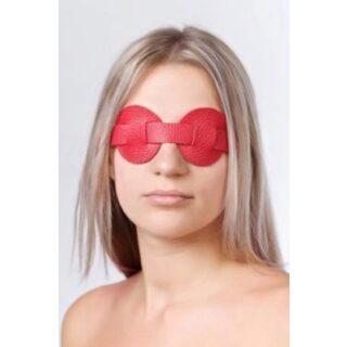 Маска закрывающая глаза Sitabella из натуральной кожи, красная