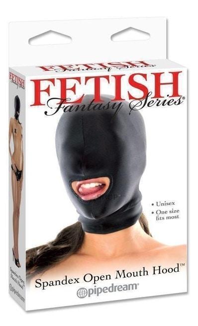 Маска с отверстием для рта Fetish Fantasy Series Spandex Open Mouth Hood черная. Нет в наличии