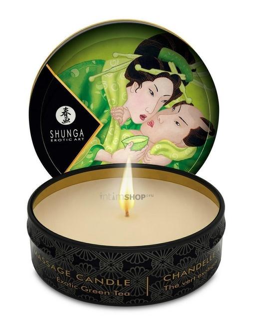 Свеча с массажным маслом Shunga Зеленый чай 30 мл