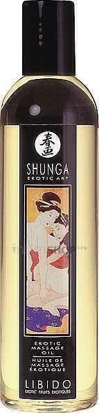 Массажное масло Shunga Влекущие экзотические фрукты, несъедобное, 250 мл