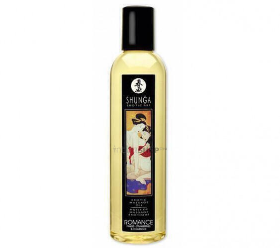 Масло для Массажа Shunga Romance Champagne & Strawberries,250 мл