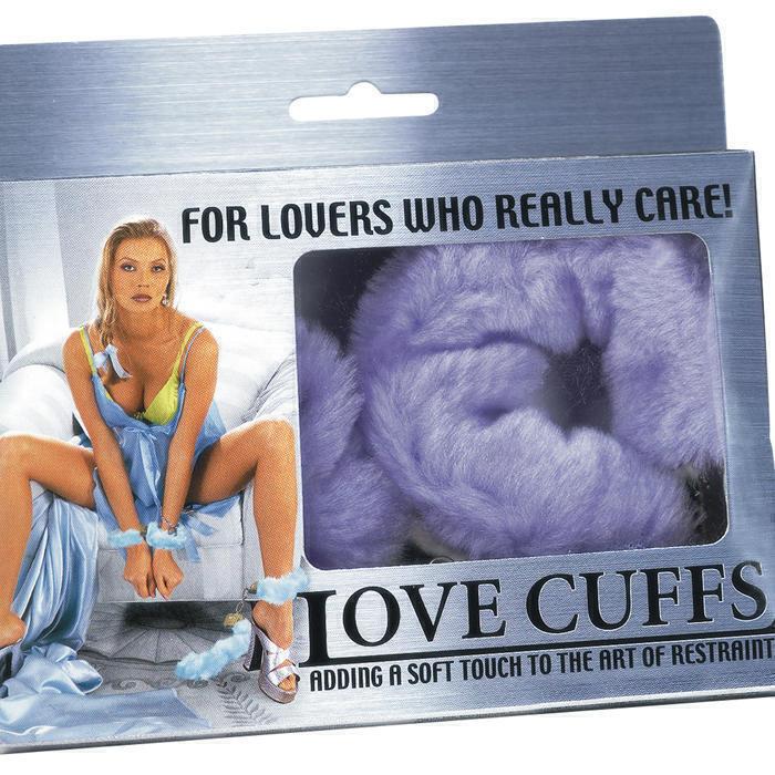 Меховые Наручники Love Cuffs Purple Plush