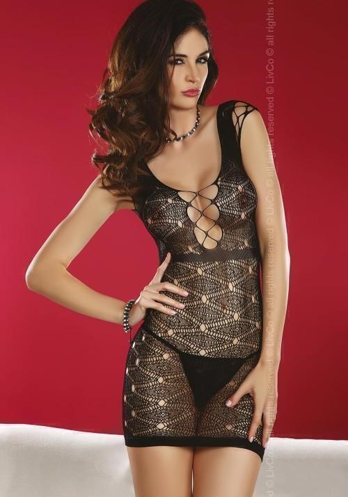 Миниплатье сетка Livia Corsetti Daksha, черный, S/L
