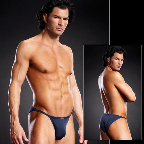 Мужские стринг-бикини темно-синего цвета