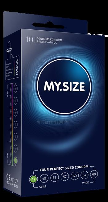 Презервативы MY.SIZE размер 47, 10 шт.