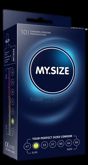 Презервативы MY.SIZE размер 49, 10 шт.