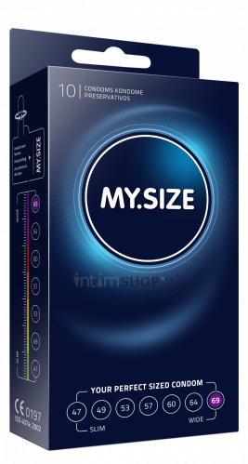 Презервативы MY.SIZE размер 69, 10 шт.