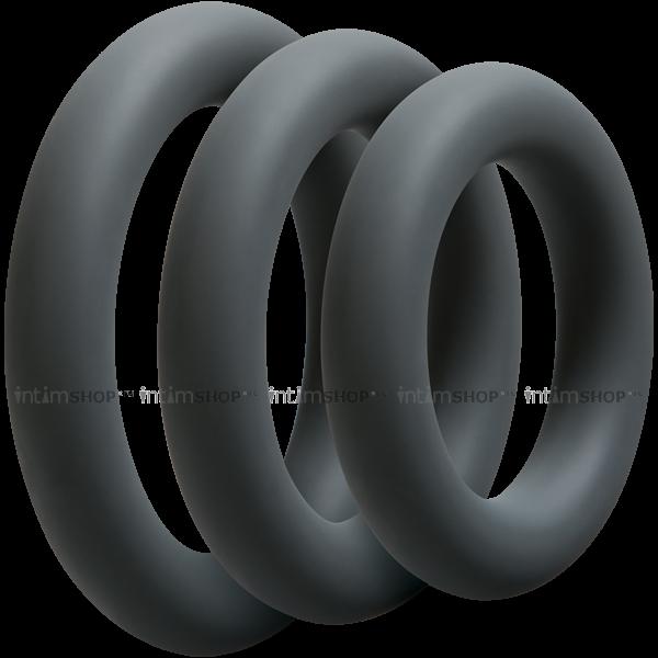 Набор эрекционных колец Doc Johnson Optimale 3 C Ring Set Thick, серый