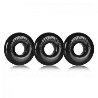 Набор эрекционных колец Oxballs Ringer 3 pack Black Small
