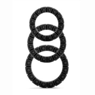 Набор эрекционных колец Silicone Love Wheel 3 sizes, черный. Нет в наличии