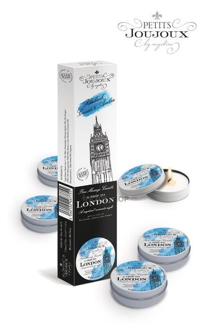Массажные свечи Pettits Joujoux London Refill Свежесть, 5 шт по 33 гр в наборе