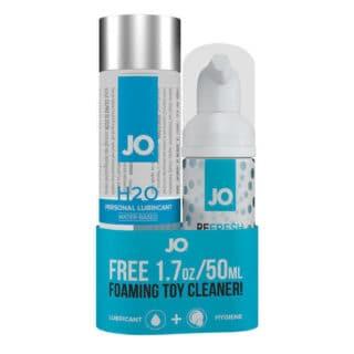 Набор из лубриканта на водной основе и очистителя для игрушек System JO H2O Foaming Toy Cleaner