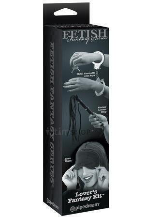 Набор Lover's Fantasy Kit: наручники плетка и маска