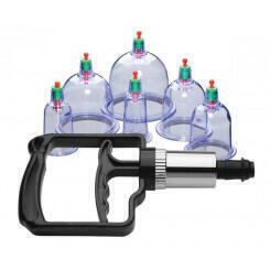 Набор помп для стимуляции Sukshen 6 Piece Cupping Set with Acu Points XR Brands