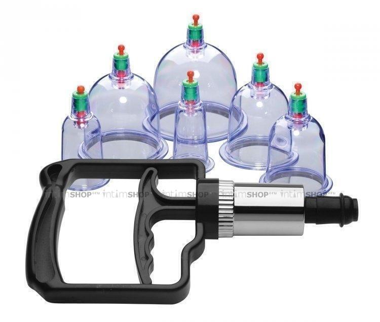 Набор помп для стимуляции Sukshen 6 Piece Cupping Set with Acu Points XR Brands