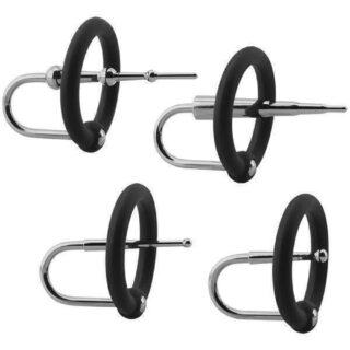 Набор уретральных плагов с кольцами на головку пениса Doc Johnson KINK - Ring & Plug Se