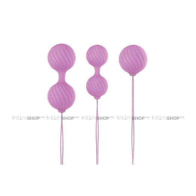 Набор вагинальных шариков Luxe - O' - Weighted Kegel Balls, розовый - NS Novelties