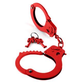 Наручники металлические Designer Cuffs, красный