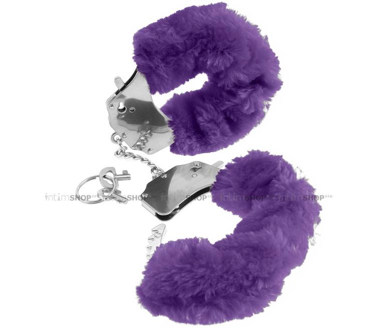 Наручники металлические Furry Cuffs с мехом фиолетовые