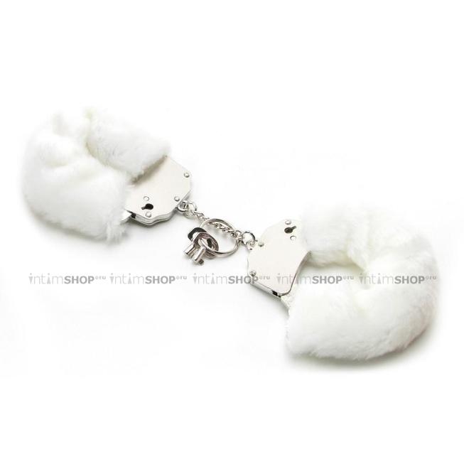 Наручники металлические Furry Cuffs с мехом белые