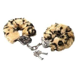 Наручники с Мехом Love Cuffs Leopard Plush