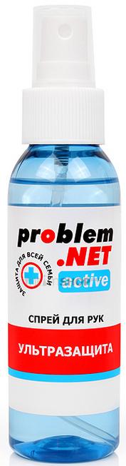 Обеззараживающий спрей для рук Problem.NET Active с высоким содержанием спирта 100 мл.