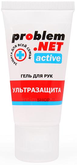Обеззараживающий гель для рук Problem.NET Active с высоким содержанием спирта 30 гр.