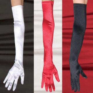 Перчатки SoftLine длинные, красные, S/L