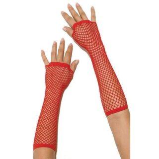 Перчатки Electric Lingerie в сеточку длинные красные, OS