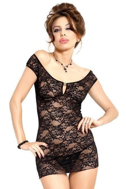 Ночная Сорочка Soft Line Linley черная S/M