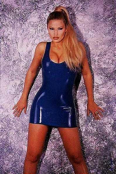 Эротическое платье из латекса Latex Mini Dress Blue