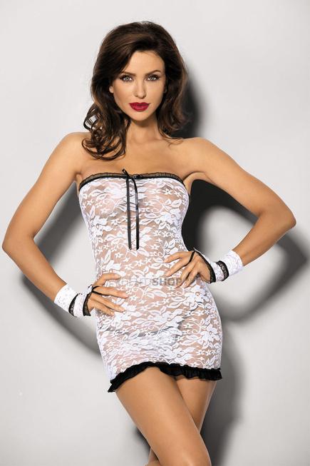 Платье,стринги и перчатки Purity L