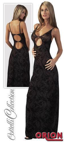 Платье женское длинное, цвет черный, размер M