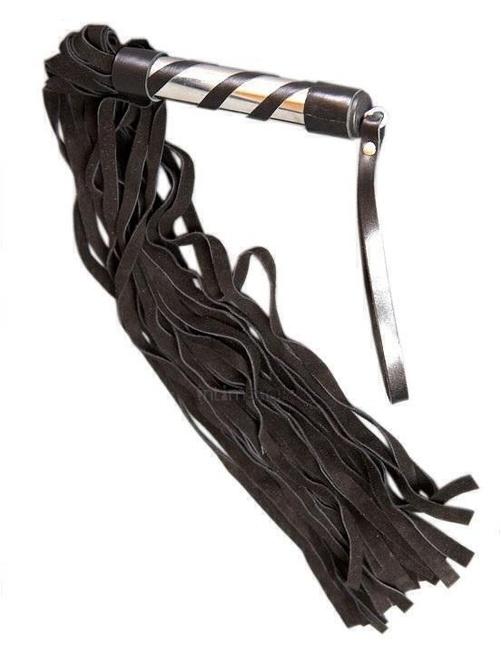 Плеть с замшевыми хвостами черная