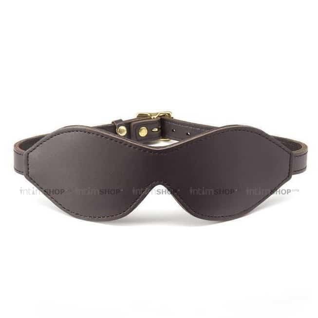 Повязка на глаза Coco de Mer Leather Blindfold, коричневый