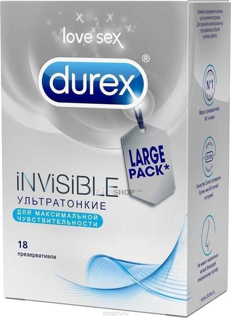 Презервативы Durex №18 Invisible ультратонкие