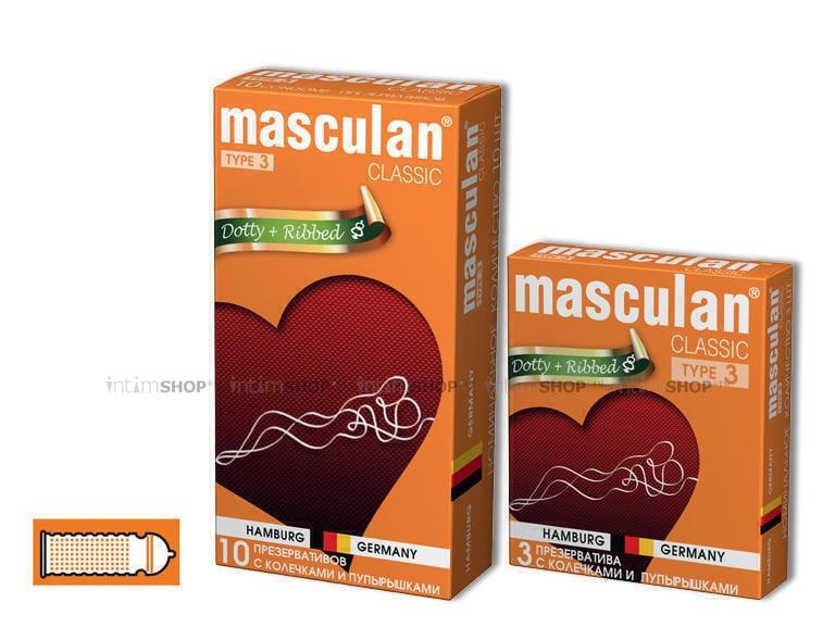 Презервативы Masculan №3 Classic с Колечками и Пупырышками 3 шт