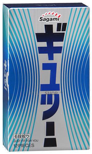 Презервативы Sagami №12 латексные с волнообразной текстурой 6 FIT V