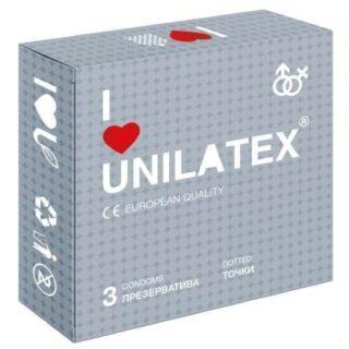Презервативы Unilatex Dotted 3 шт.
