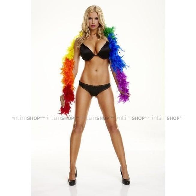 Пушистое Боа Electric Lingerie Caramel Rainbow разноцветное