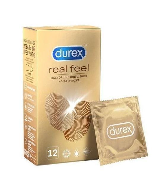 Презервативы Durex RealFeel гипоаллергенные из синтетического материала 12 шт