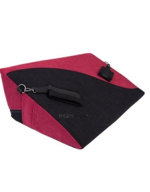 Подушка для любви RestArt Hanna с фиксаторами, черно-бордовый