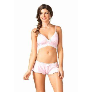 Комплект Leg Avenue - Lace trimmed bralette & short, L