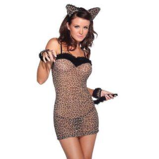 Леопардовое платье кошки, One Size