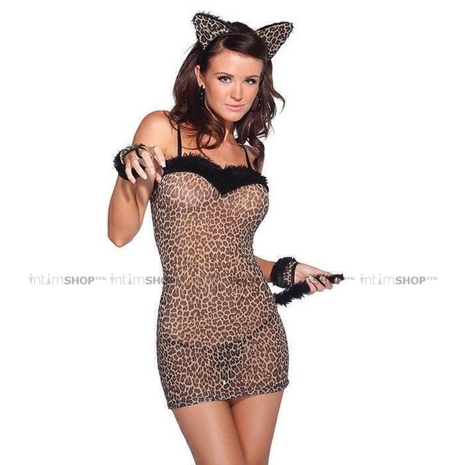 Леопардовое платье кошки, Coquette Lingerie, OS