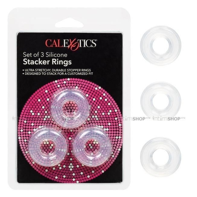 Набор колец Set of 3 Silicone Stacker Rings, бесцветный