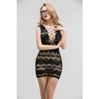 Сетчатое платье с корсетной шнуровкой Femme Fatale, OS