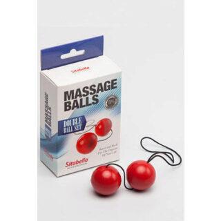 Шарики массажные (пластик ) красные 8009-2