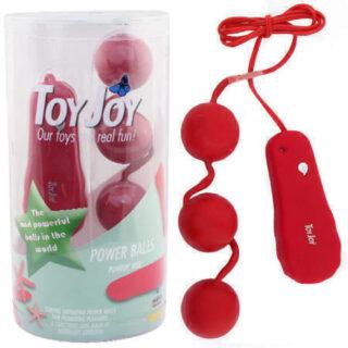 Шарики анальные с вибрацией Toy Joy Power Balls, красный